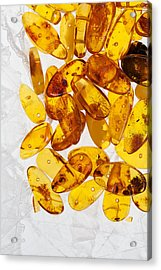 Acrylic Print featuring the photograph Yellow Amber Stones  by Andrey  Godyaykin