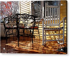 Acrylic Print featuring the photograph Yellow Ambiance by Betsy Zimmerli