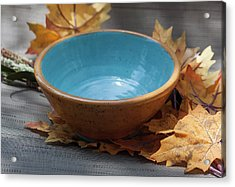 Yellow And Blue Bowl Acrylic Print