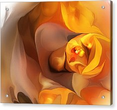 Yellow And Gold Abstract 050712 Acrylic Print