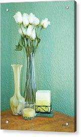 Yellow And Green Acrylic Print