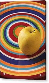 Yellow Apple  Acrylic Print by Garry Gay