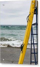 Yellow Surfboard Acrylic Print