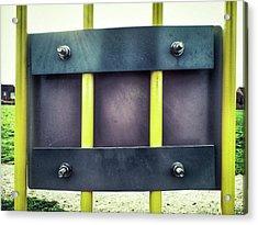 Yellow Bars Close Up  Acrylic Print