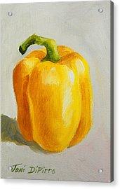 Yellow Bell Pepper Acrylic Print by Joni Dipirro