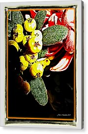 Acrylic Print featuring the photograph Yellow Berries by Joan  Minchak