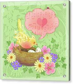 Yellow Bird's Love Song Acrylic Print