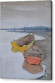 Yellow Boat 1 Acrylic Print by Amy Bernays