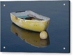 Yellow Rowboat Acrylic Print
