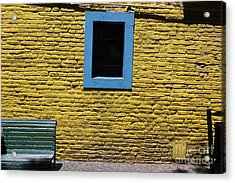 Yellow Brick Window Acrylic Print