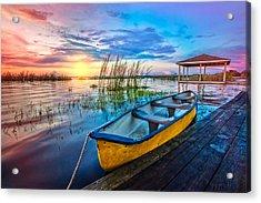 Yellow Canoe Acrylic Print