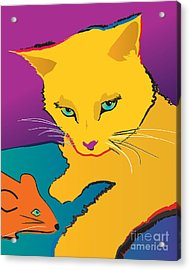 Yellow Cat Acrylic Print
