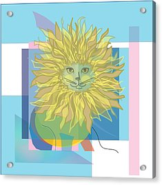 Yellow Cat Acrylic Print by Susan Nelson