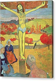 Yellow Christ Acrylic Print by Paul Gauguin