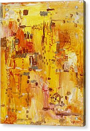 Yellow Conundrum Acrylic Print
