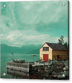 Yellow Cottage Acrylic Print