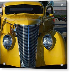 Yellow Coupe Acrylic Print by William Thomas
