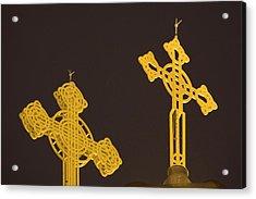 Yellow Crosses Acrylic Print