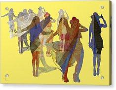 Yellow Dance Acrylic Print
