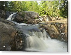 Yellow Dog Falls 3 Acrylic Print by Michael Peychich