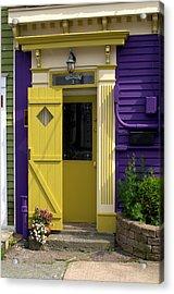 Yellow Door Acrylic Print by Douglas Pike