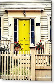 Acrylic Print featuring the photograph Yellow Door by Kendall McKernon