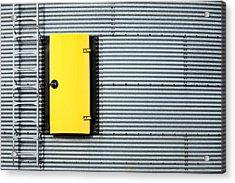 Yellow Door Acrylic Print by Todd Klassy