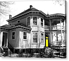 Yellow Door Acrylic Print by Will Borden