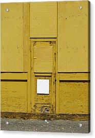 Yellow Door With Accent Acrylic Print by Ben Freeman