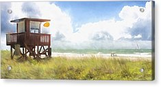 Yellow Flag, Santa Maria Island, Florida Acrylic Print by Glenn Gemmell
