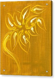 Yellow Flower 1 Acrylic Print by Melissa Moore