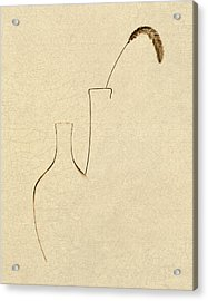 Yellow Foxtail With Vases Acrylic Print by Tom Mc Nemar