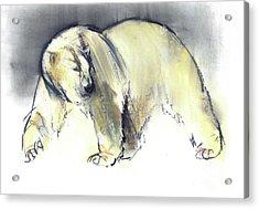 Yellow Ghost Acrylic Print by Mark Adlington