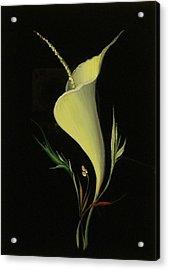 Yellow Glass Acrylic Print by Venyamin Astashov