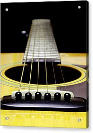 Yellow Guitar 17 Acrylic Print