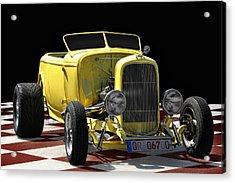 Yellow Hot Rod Acrylic Print by Joachim G Pinkawa