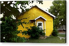 Yellow House In Shantytown  Acrylic Print