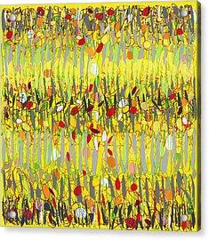 Yellow Jazz Acrylic Print