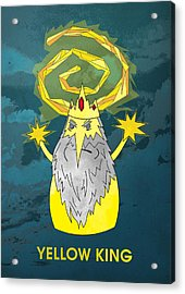Yellow King True Detective Adventure Time Acrylic Print