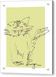 Yellow Kitty Acrylic Print