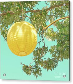 Acrylic Print featuring the photograph Yellow Lantern by Cindy Garber Iverson
