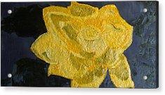 Yellow Lilac On The Pond Acrylic Print