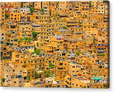Yellow Maze Acrylic Print