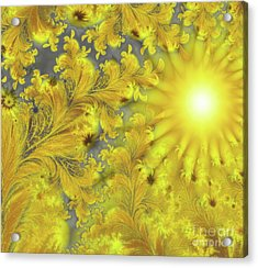 Yellow Morning Acrylic Print by Mindy Sommers