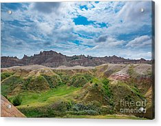 Yellow Mounds Of Badlands Np Acrylic Print