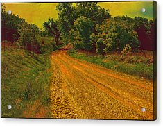 Yellow Oz Road Acrylic Print
