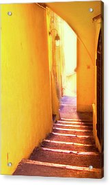 Acrylic Print featuring the photograph Yellow Passage  by Harry Spitz