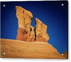 Acrylic Print featuring the photograph Yellow Pillars by Edgars Erglis