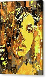 Acrylic Print featuring the photograph Yellow Portrait by Jeff Gettis