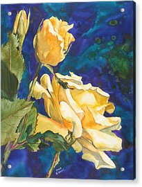 Yellow Rose After Texas Acrylic Print